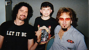 Bruce Kulick, David S., and Eric Singer at the 2001 Louisville KISS Expo